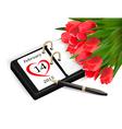 valentines day calendar february 14 saint vector image