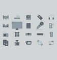 video audio equipment icons 03 vector image vector image