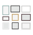 vintage frames wooden painting and photo empty vector image