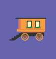 wagon icon set of great flat icons for vector image