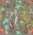wildflowers hand drawing seamless pattern for the vector image vector image