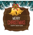 card greeting merry christmas and happy new year vector image