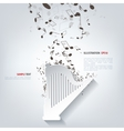 Harp icon Music instruments vector image