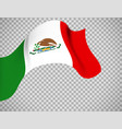 mexico flag on transparent background vector image
