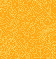 orange floral flower pattern doodle vector image