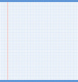 school notebook paper texture seamless pattern vector image