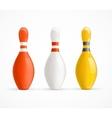Colorful Bowling Pins vector image