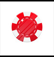 red casino chip cartoon style isolated vector image