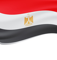 Waving flag of Egypt isolated on white vector image