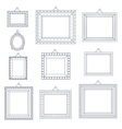 Line Art Frame Photo Picture Painting Decoration vector image