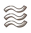 Waves wet symbol vector image