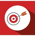 target design over circle vector image