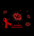 1st december world aids day vector image