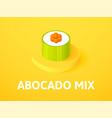 abocado mix isometric icon isolated on color