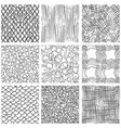 abstract pen sketch seamless pattern set vector image vector image