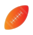 American simple football ball Orange applique vector image vector image