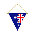 australian triangle flag hanging vector image vector image