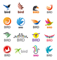 big set logos birds vector image