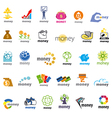 biggest collection logos money finance vector image