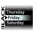 black friday sale for banner menu vector image vector image