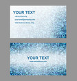 Blue triangle mosaic business card template design vector image vector image