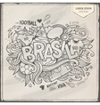 Brazil Summer 2014 and doodles elements vector image