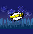 bright carnival festive background vector image vector image