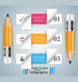 business infographics pencil icon vector image vector image