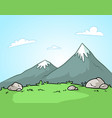 cartoon mountains landscape background vector image vector image