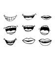 cartoon mouth icon vector image vector image