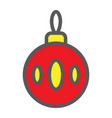 christmas tree ball filled outline icon xmas and vector image vector image