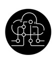 cloud information technology black icon vector image vector image
