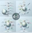 collection of 4 modern infographic design layouts vector image vector image