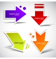 colorful paper arrow for speech vector image vector image