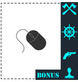 computer mouse icon flat vector image vector image