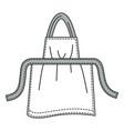 cotton kitchen apron home textile protective vector image