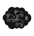 Count sheep icon in black style isolated on white vector image