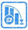 Dashcoin falling acceleration chart framed stamp