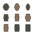 decorative vintage frames and borders set vector image vector image