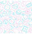 desserts pattern kids delicious food sweet cakes vector image vector image