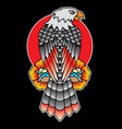 eagle traditional tattoo flash vector image vector image
