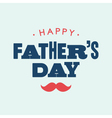 Fathers day card letterpress vector image