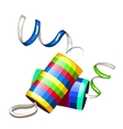 Festive party poppers with confetti vector image vector image