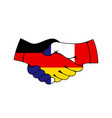 germany and france trade cooperation handshake vector image