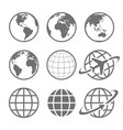 globe earth icons image vector image