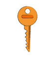 key door isolated vector image vector image