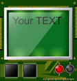 Large lcd display with space for text and