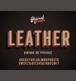leather vintage 3d premium alphabet vector image
