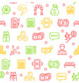 lotto signs seamless pattern background vector image vector image
