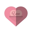 love heart message valentines day card vector image